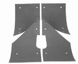 Комплект истираемых листов (броня)растворонасоса пневмонагнетателя BR Центральный выход 6 мм - фото 4816