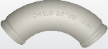 Угол бетоновода DN125*R275*90
